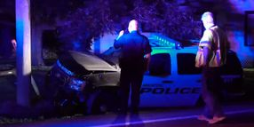 Texas Officer Uninjured After PIT Maneuver Crash