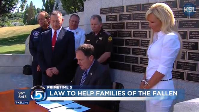 Utah Legislature Votes to Help Families of Fallen Officers