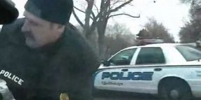 Dash-Cam Captures Stolen Police Car