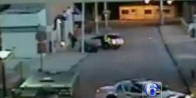 Univ. Cop's Cruiser Pins Burglary Suspect