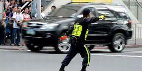 Dancing Filipino Traffic Cop