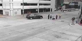 Houston Chief Strikes Pedestrian