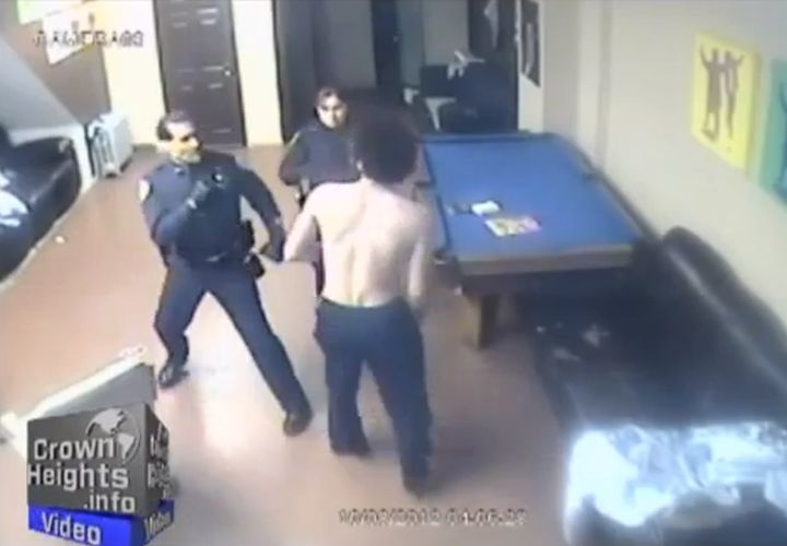 NYPD Cop's Fight with Homeless Man