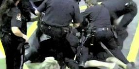 Officers Swarm Suspect Outside Hospital