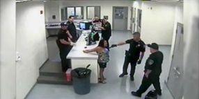 Drunk Woman Spits On Cop, TASERed