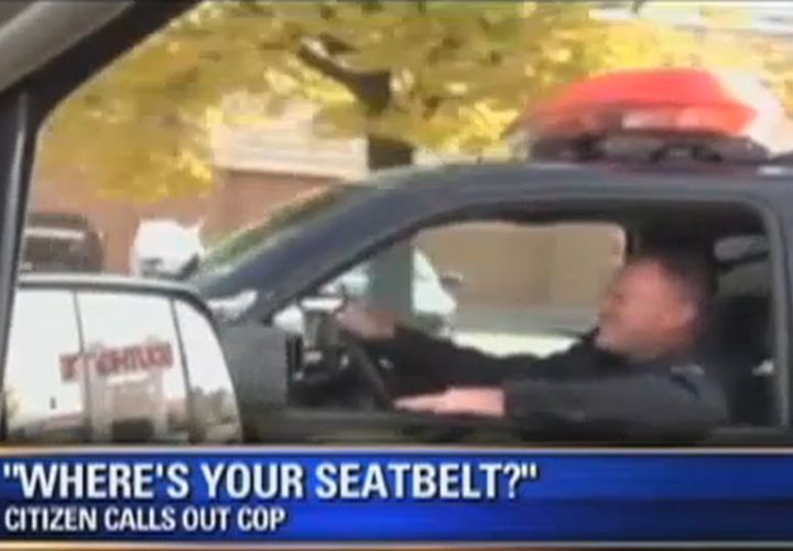 Seat-belt Activist Tries To Pull Over Mich. Cop
