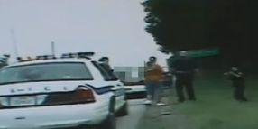 Texas Cop's Tumble