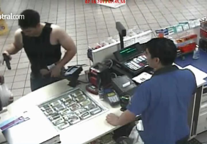 Intoxicated Officer Points Gun at Clerk