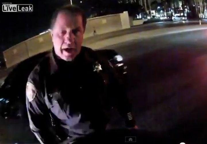 Las Vegas Cop Rear-Ends Motorcycle