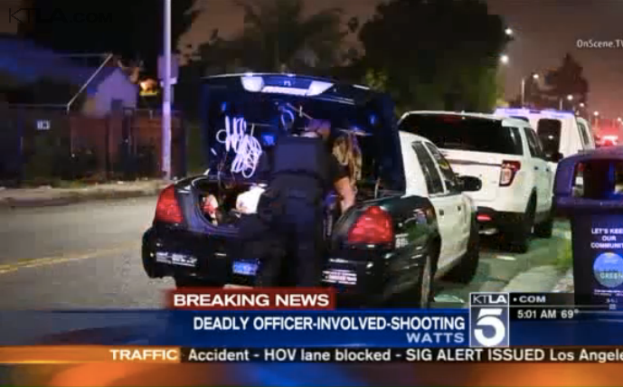 LAPD Officer Wounded, Suspect Killed in Watts Gunfight