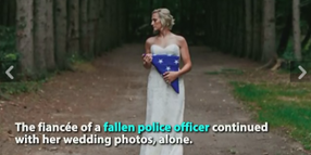 Fallen Officer's Fiancée Hires Wedding Photographer to Depict Her Loss