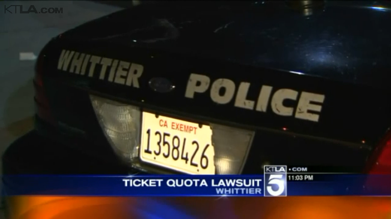 California Officers Sue, Claim Agency Retaliated After They Complained About Ticket Quotas