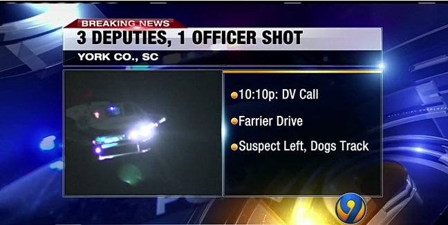 4 SC Officers Shot at Domestic Violence Call, 2 Helicoptered to Hospital