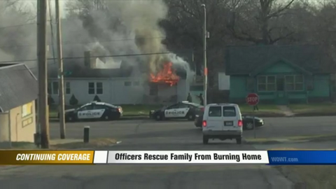 Omaha Officer Rescues Five from Burning House