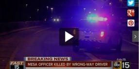 Arizona Officer Killed in Wrong-way Driver Collision