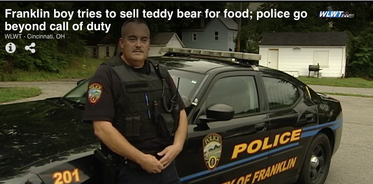 Ohio Officer Helps Neglected 7-Year-Old Boy Trying to Sell Toy for Food