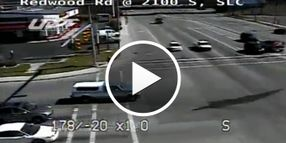 Utah Police Chase Caught on Traffic Cameras