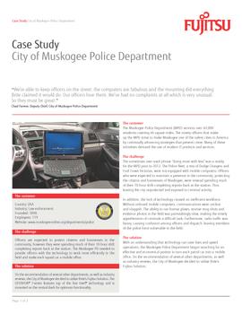 Muskogee PD Deploys Fujitsu In-Car Systems to Improve Patrol Efficiency