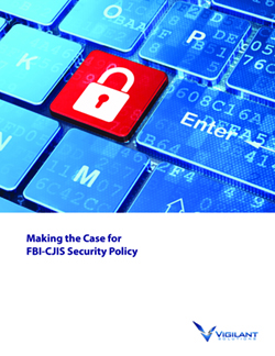 Making the Case for FBI-CJIS Security Policy