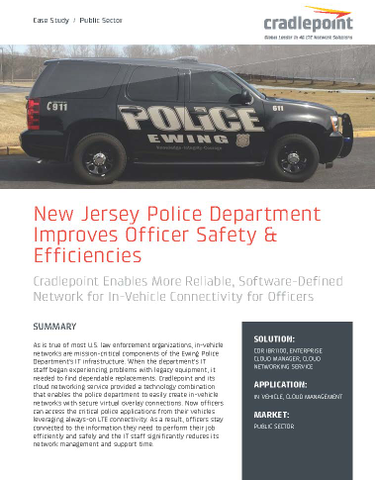 NJ Police Use Cloud-Based Network to Improve Safety & Efficiencies