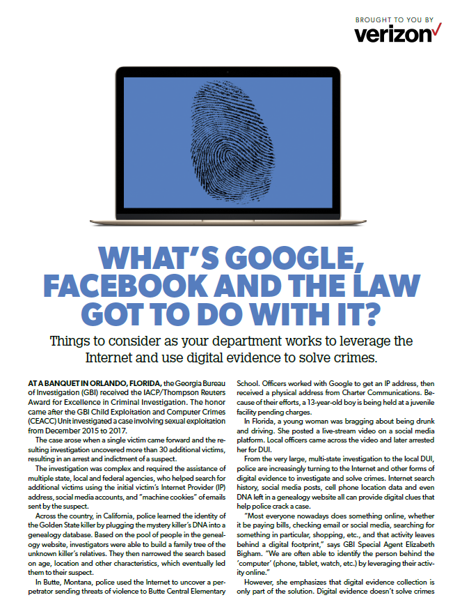 What's Google, Facebook and the law got to do with it?