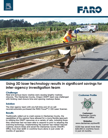 How to use 3D laser technology to generate significant savings for your inter-agency...