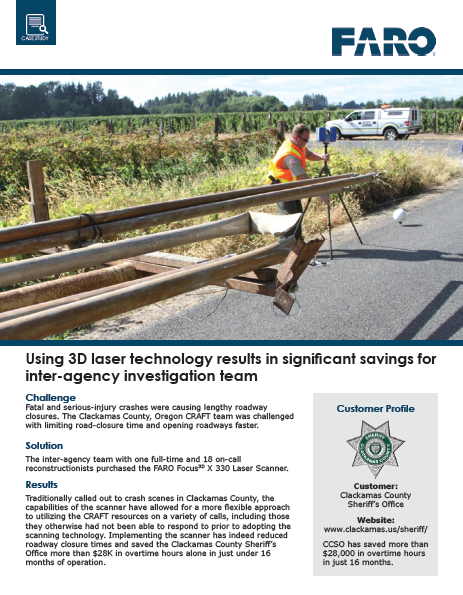 How to use 3D laser technology to generate significant savings for your inter-agency investigation team