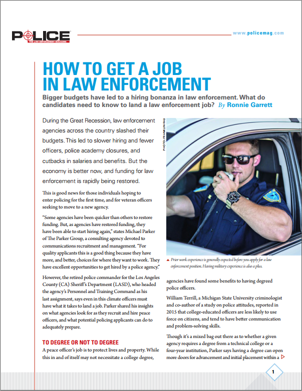 How to Get a Job in Law Enforcement